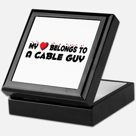 Belongs To A Cable Guy Keepsake Box