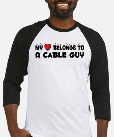 Belongs To A Cable Guy Baseball Jersey