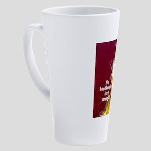No, bookkeeping isn't stressful 17 oz Latte Mug