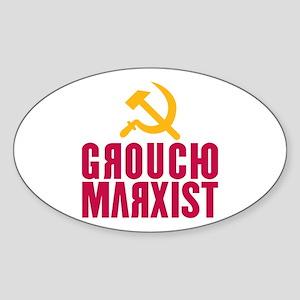 Groucho Marxist Oval Sticker