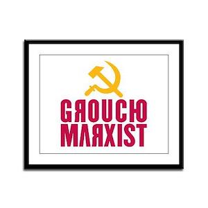 Groucho Marxist Framed Panel Print