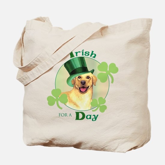 St. Patrick Yellow Lab Tote Bag