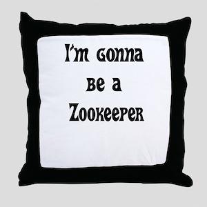 zookeeper Throw Pillow