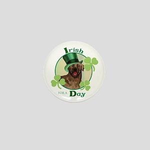 St. Patrick Chocolate Lab Mini Button