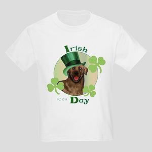St. Patrick Chocolate Lab Kids Light T-Shirt
