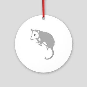 Possum Silhouette Ornament (Round)