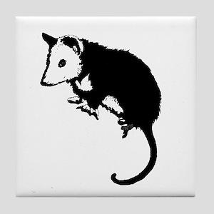 Possum Silhouette Tile Coaster