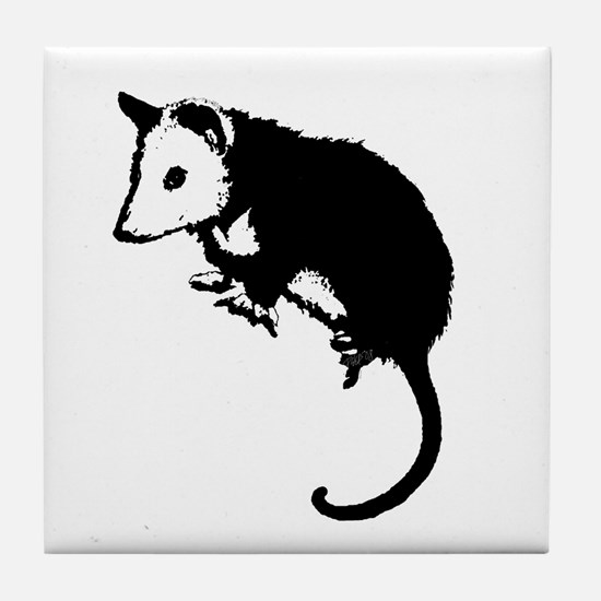 Possum Silhouette Tile Coaster
