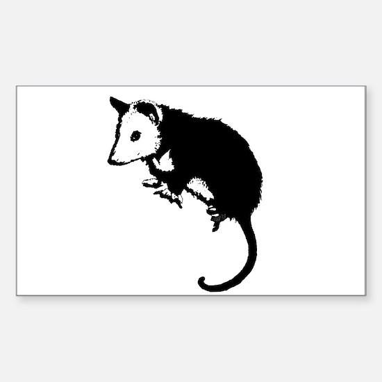 Possum Silhouette Rectangle Decal