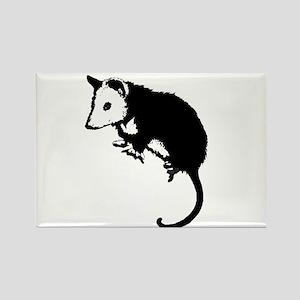 Possum Silhouette Rectangle Magnet