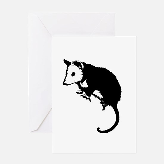 Possum Silhouette Greeting Card