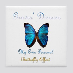 Graves' Disease Butterfly Effect Tile Coaster