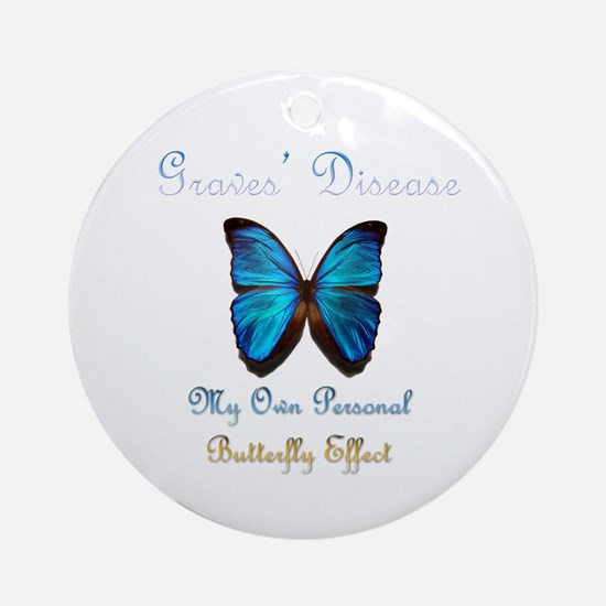 Graves' Disease Butterfly Effect Ornament (Round)