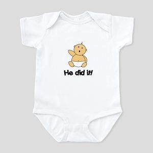 HE DID IT! Infant Bodysuit