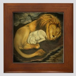The Lion and the Lamb Framed Tile