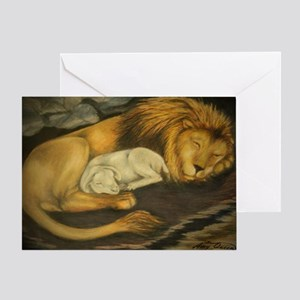 The Lion and the Lamb Greeting Card