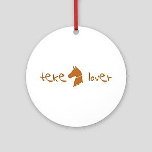 Akhal-Teke Lover Ornament (Round)