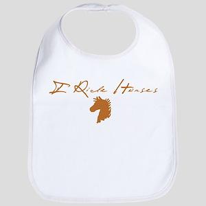 I Ride Horse Bib