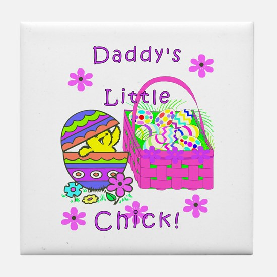 Daddy's Little Easter Chick Tile Coaster