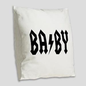 baby Burlap Throw Pillow