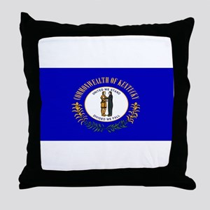 Kentucky Blank Flag Throw Pillow