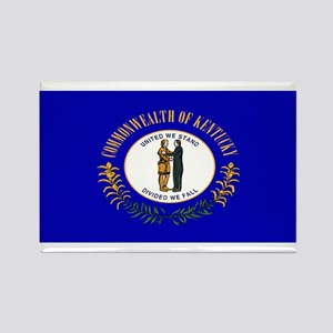 Kentucky Blank Flag Rectangle Magnet