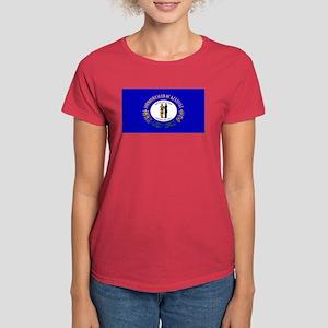 Kentucky Blank Flag Women's Dark T-Shirt