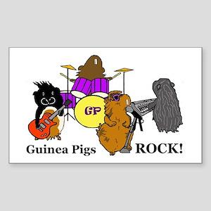 Guinea Pigs Rock! Rectangle Sticker