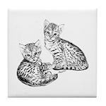 Savannah kittens Tile Coaster
