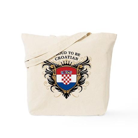 Proud to be Croatian Tote Bag