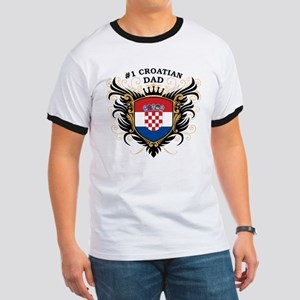 Number One Croatian Dad Ringer T