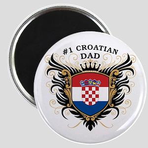 Number One Croatian Dad Magnet
