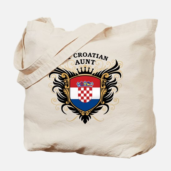 Number One Croatian Aunt Tote Bag