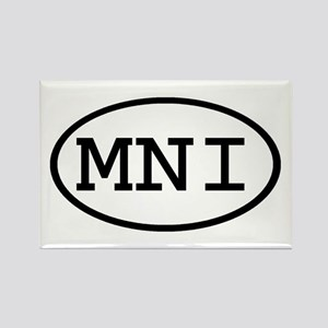 MNI Oval Rectangle Magnet