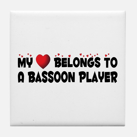 Belongs To A Bassoon Player Tile Coaster