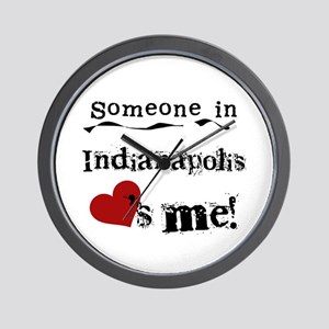 Indianapolis Loves Me Wall Clock