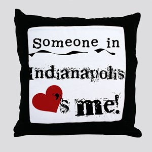 Indianapolis Loves Me Throw Pillow