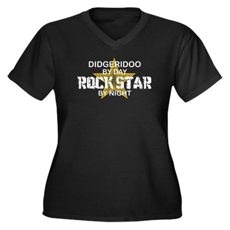Didgeridoo Player Rock Star Women's Plus Size V-Ne