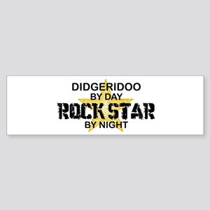 Didgeridoo Player Rock Star Bumper Sticker