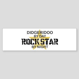 Didgeridoo Player Rock Star Bumper Sticker