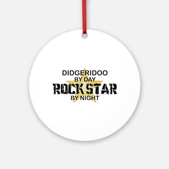 Didgeridoo Player Rock Star Ornament (Round)