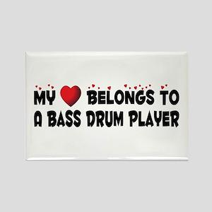 Belongs To A Bass Drum Player Rectangle Magnet