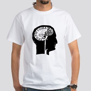 Brain White T-Shirt