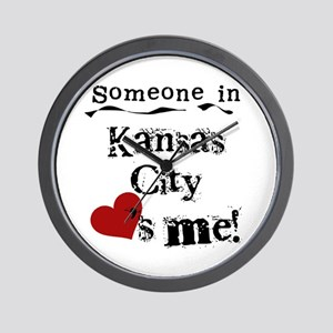 Kansas City Loves Me Wall Clock