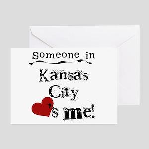 Kansas City Loves Me Greeting Card