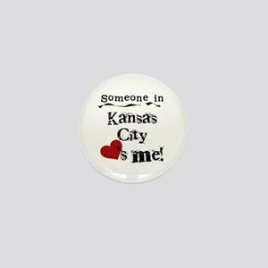 Kansas City Loves Me Mini Button