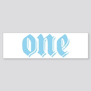 ONE birthday boy blue Bumper Sticker