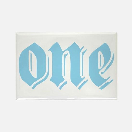 ONE birthday boy blue Rectangle Magnet
