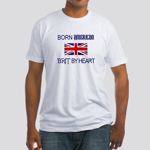 Born American, British by Hea Fitted T-Shirt
