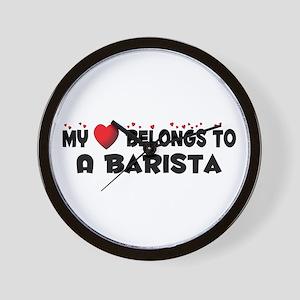 Belongs To A Barista Wall Clock
